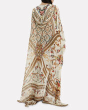 Olympe Ode Silk Robe, WHITE/GOLD, hi-res