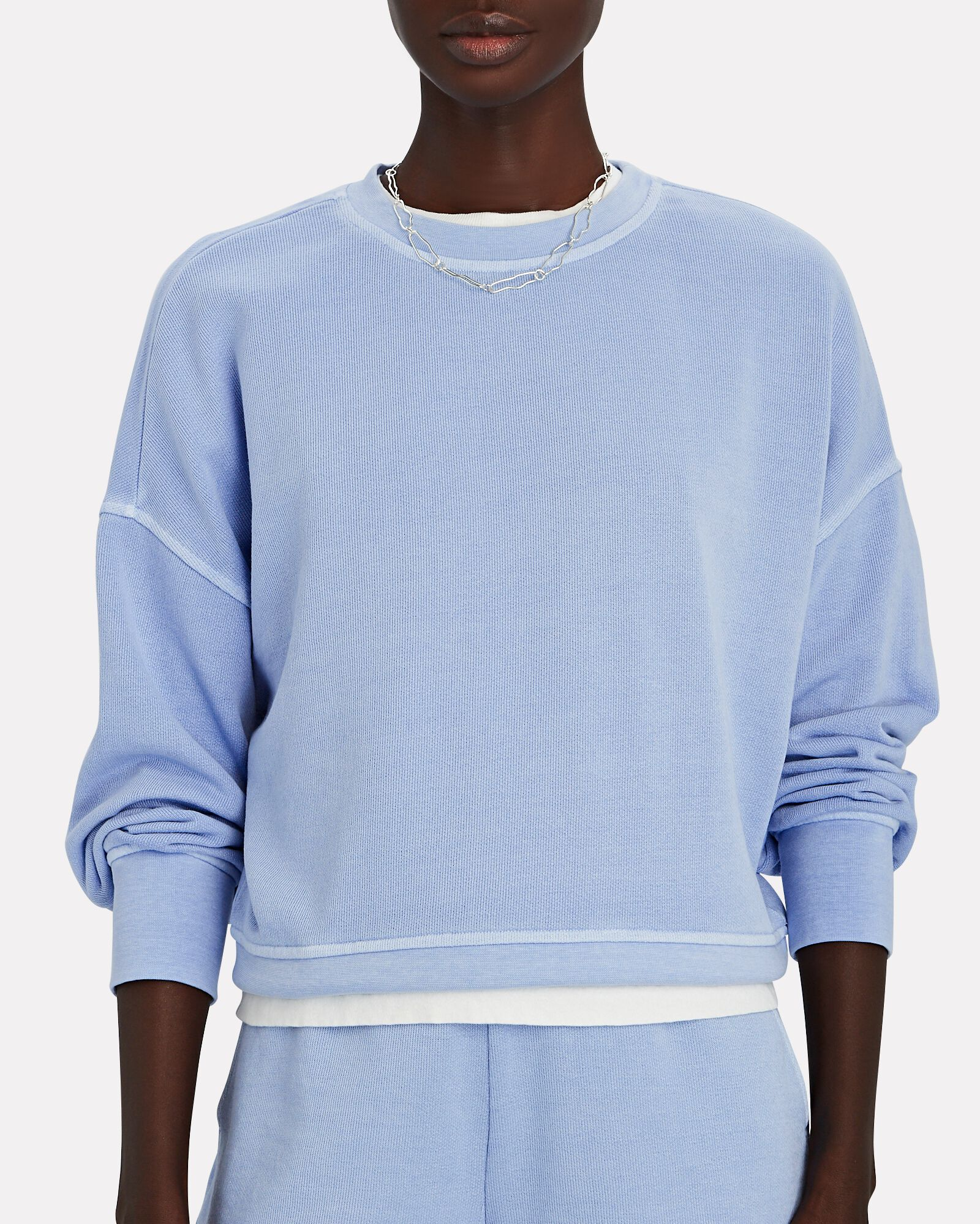 Alice Crewneck Sweatshirt, BLUE, hi-res