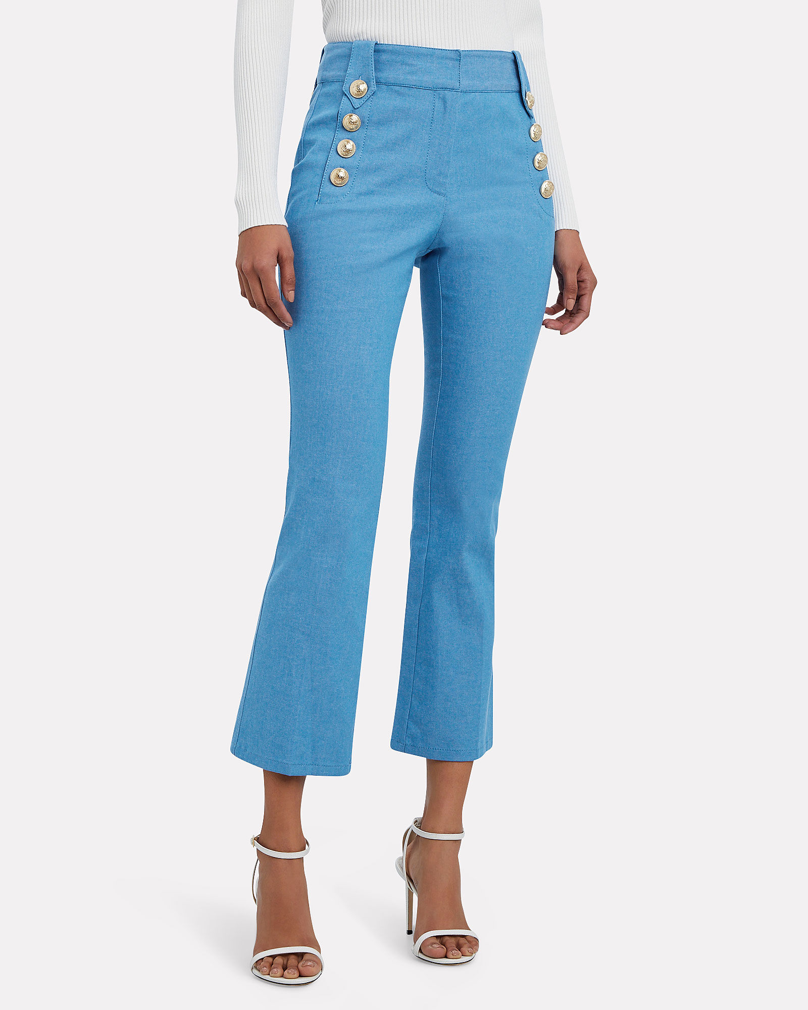 Robertson Sailor Cropped Trousers, BLUE-MED, hi-res