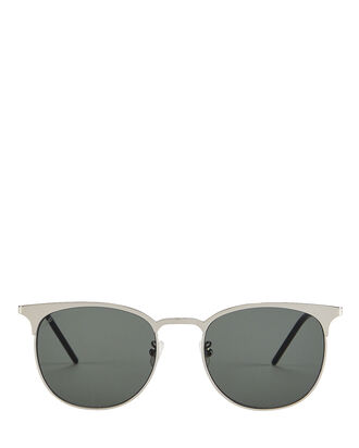 Wire Frame Rounded Sunglasses, SILVER, hi-res