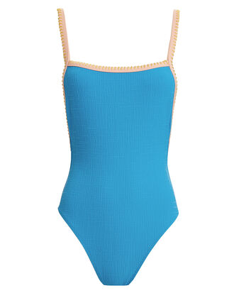 Natalia One Piece Swimsuit, BLUE/BIEGE, hi-res