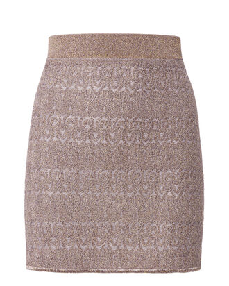 Lamé Solid Mini Skirt, PINK, hi-res