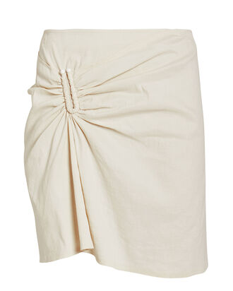 Burke Linen-Blend Mini Skirt, IVORY, hi-res