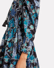 Liv Lapis Floral Patchwork Dress, BLUE-MED, hi-res
