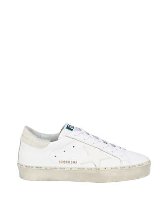 Hi Star Fur-Trimmed Low-Top Sneakers, WHITE, hi-res