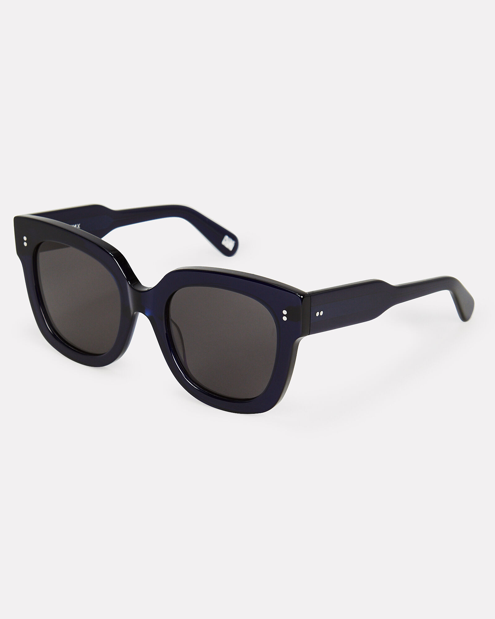008 Rectangle Almost Black Sunglasses, DARK BLUE, hi-res