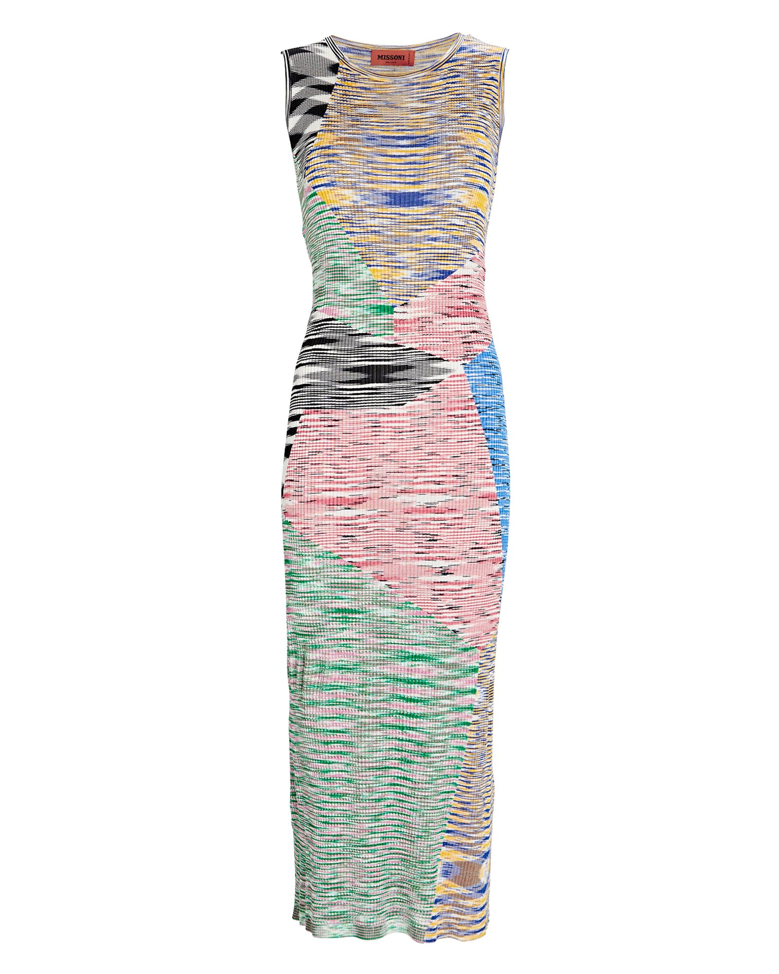 Space Dye Knit Midi Dress, GREEN/PINK/WHITE, hi-res