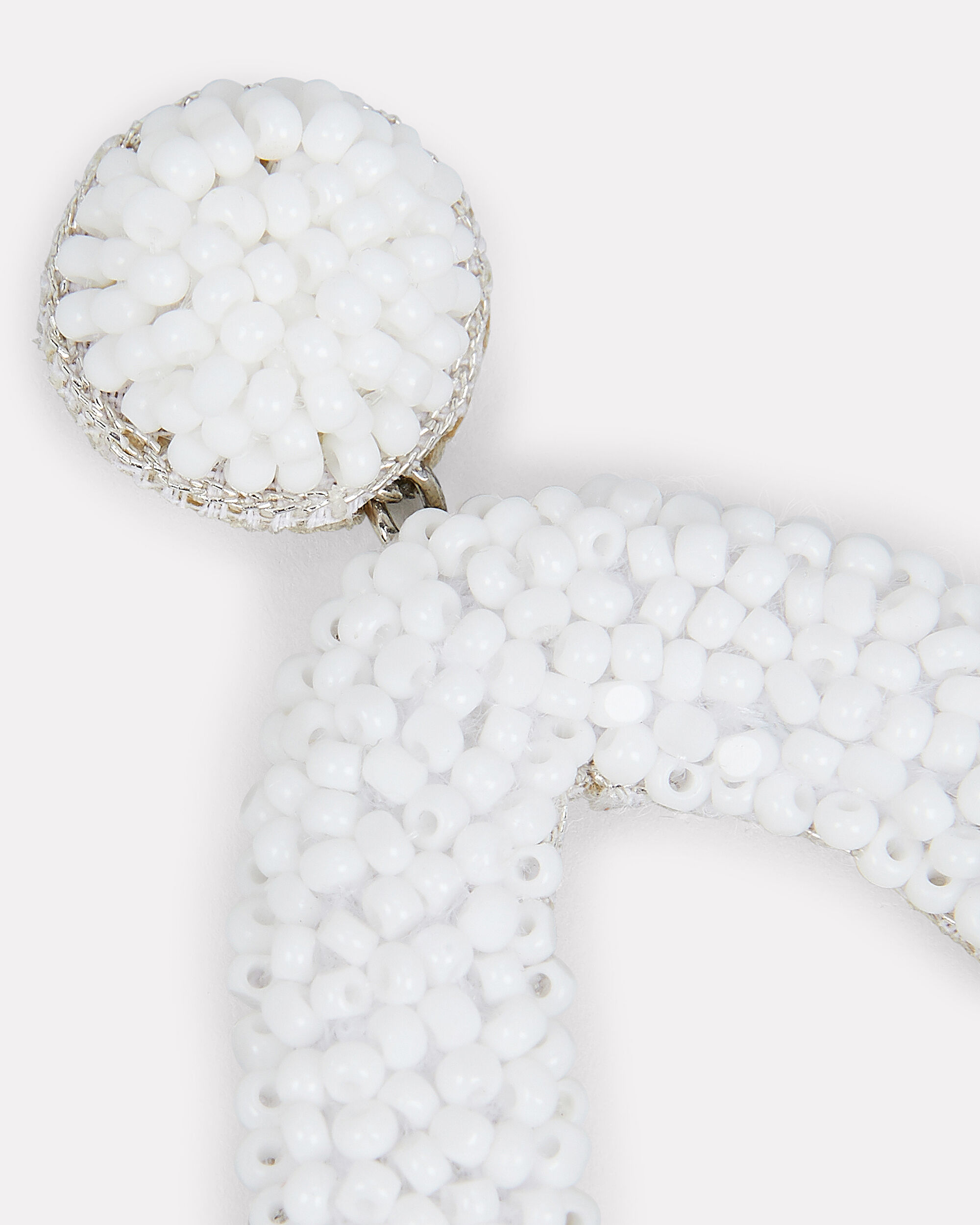 Jennax Beaded Earrings, WHITE, hi-res
