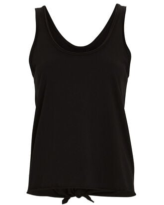 Sienna Tie Back Tank Top, BLACK, hi-res