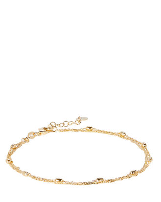 Layered Curb Chain Anklet, , hi-res