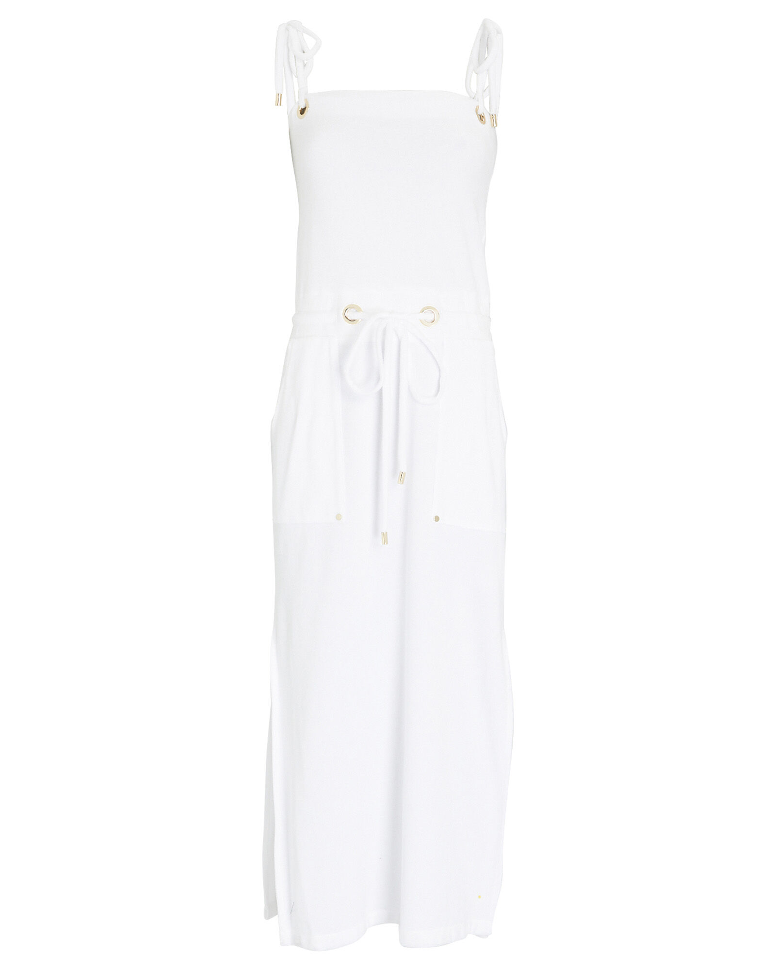 Karla Terry Cotton Cover-Up Dress, WHITE, hi-res