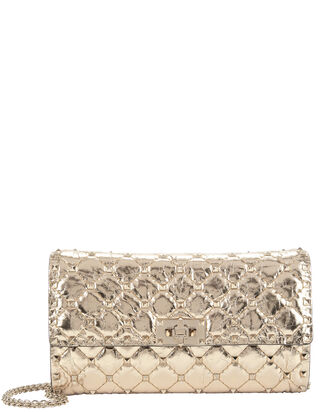 Spiked Shoulder Bag, METALLIC, hi-res