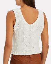 Kind Cable Knit Sleeveless Sweater, IVORY, hi-res