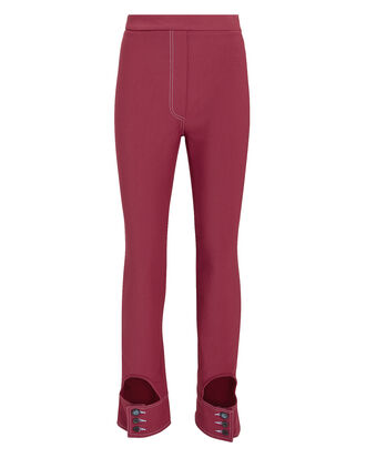 Gehry Cutout Slim Pants, RED-DRK, hi-res