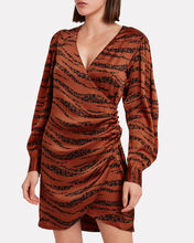 Penelope Zebra-Printed Silk Dress, MULTI, hi-res