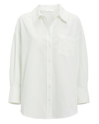 Mika Button Down Shirt, WHITE, hi-res