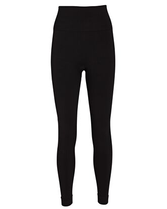 Seamless High-Rise Leggings, BLACK, hi-res