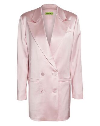 Cartagena Satin Blazer Dress, PINK, hi-res