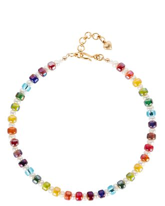 Candy Rainbow Beaded Necklace, MULTI, hi-res