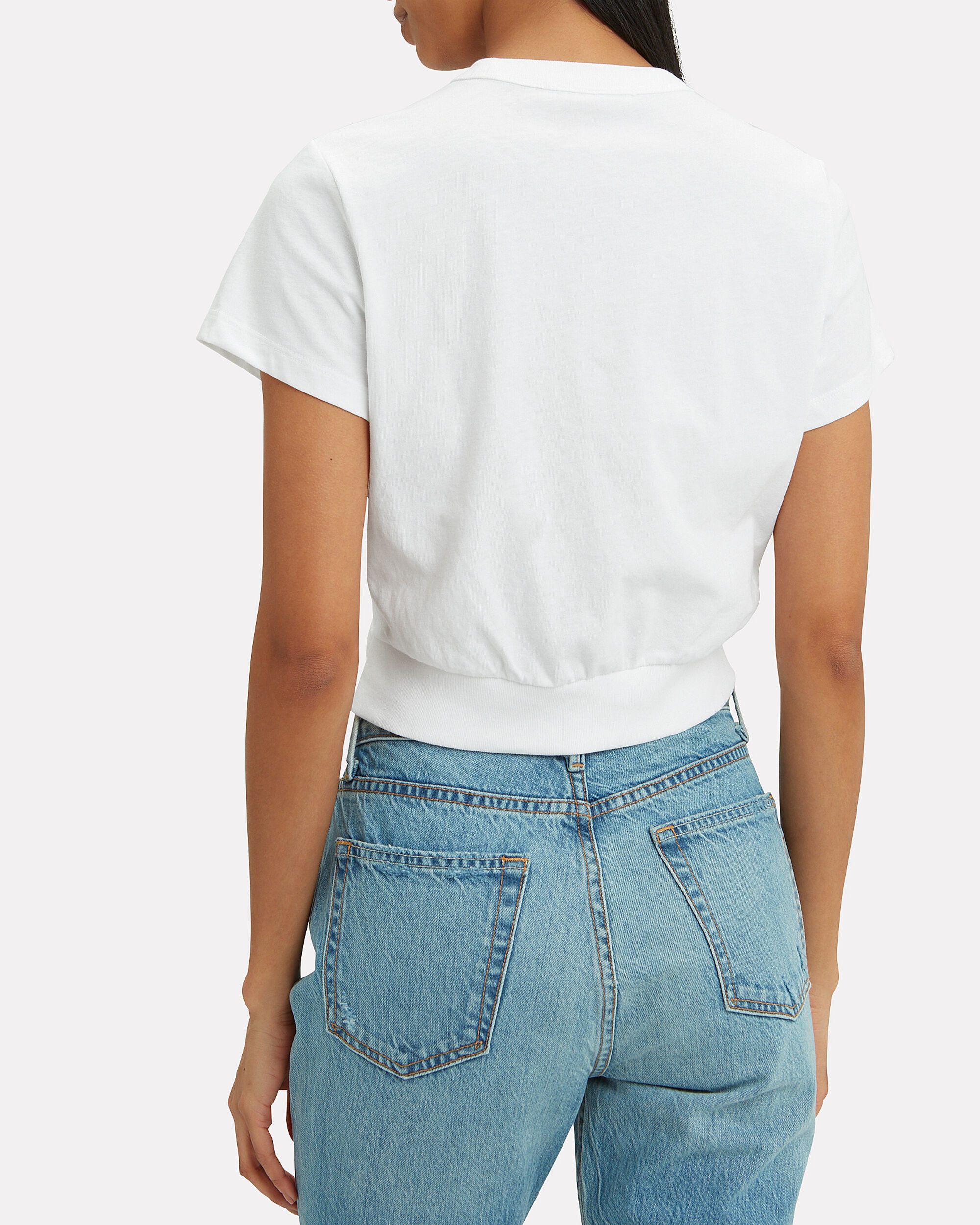 Twisted Crop Top, WHITE, hi-res