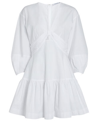 Talia Twisted Mini Dress, WHITE, hi-res