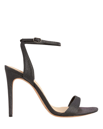 Willow Black Lurex Sandals, BLACK LUREX, hi-res