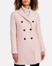 Double-Breasted Wool Coat, BLUSH, hi-res