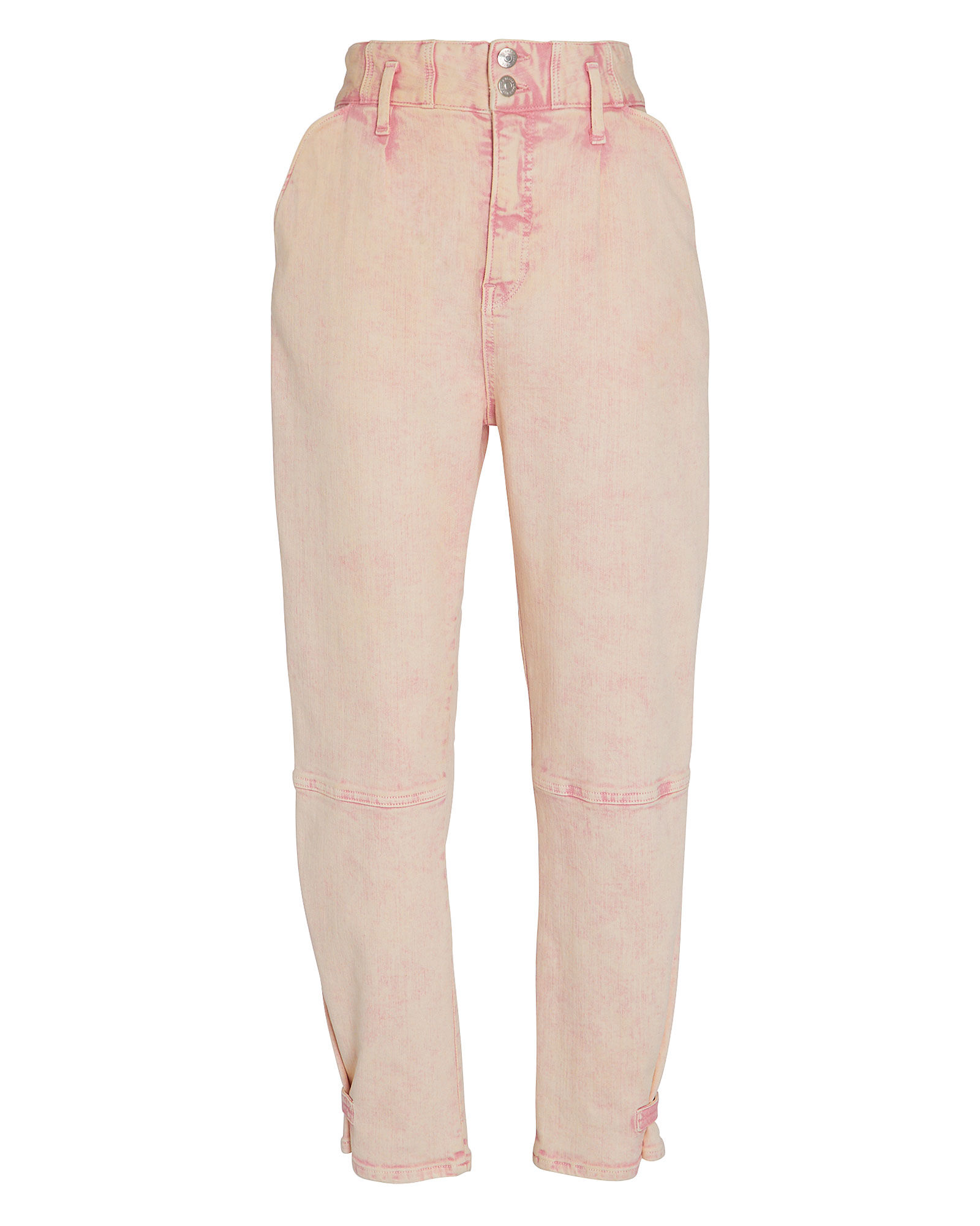 Monika Tapered Acid Wash Jeans, PINK, hi-res