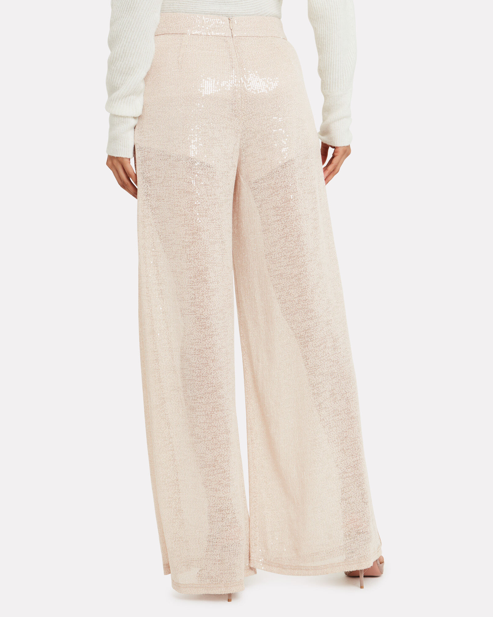 Disposable Hero Sequin Trousers, IVORY, hi-res