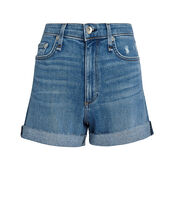Nina High-Rise Denim Shorts, PALMER, hi-res