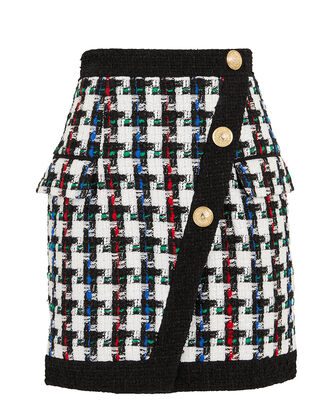 Houndstooth Mini Skirt, BLK/WHT, hi-res