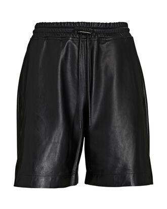 Camden Leather Shorts, BLACK, hi-res