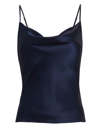 Fayette Cowl Neck Camisole, NAVY, hi-res