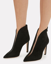 Bowie Suede Booties, BLACK, hi-res