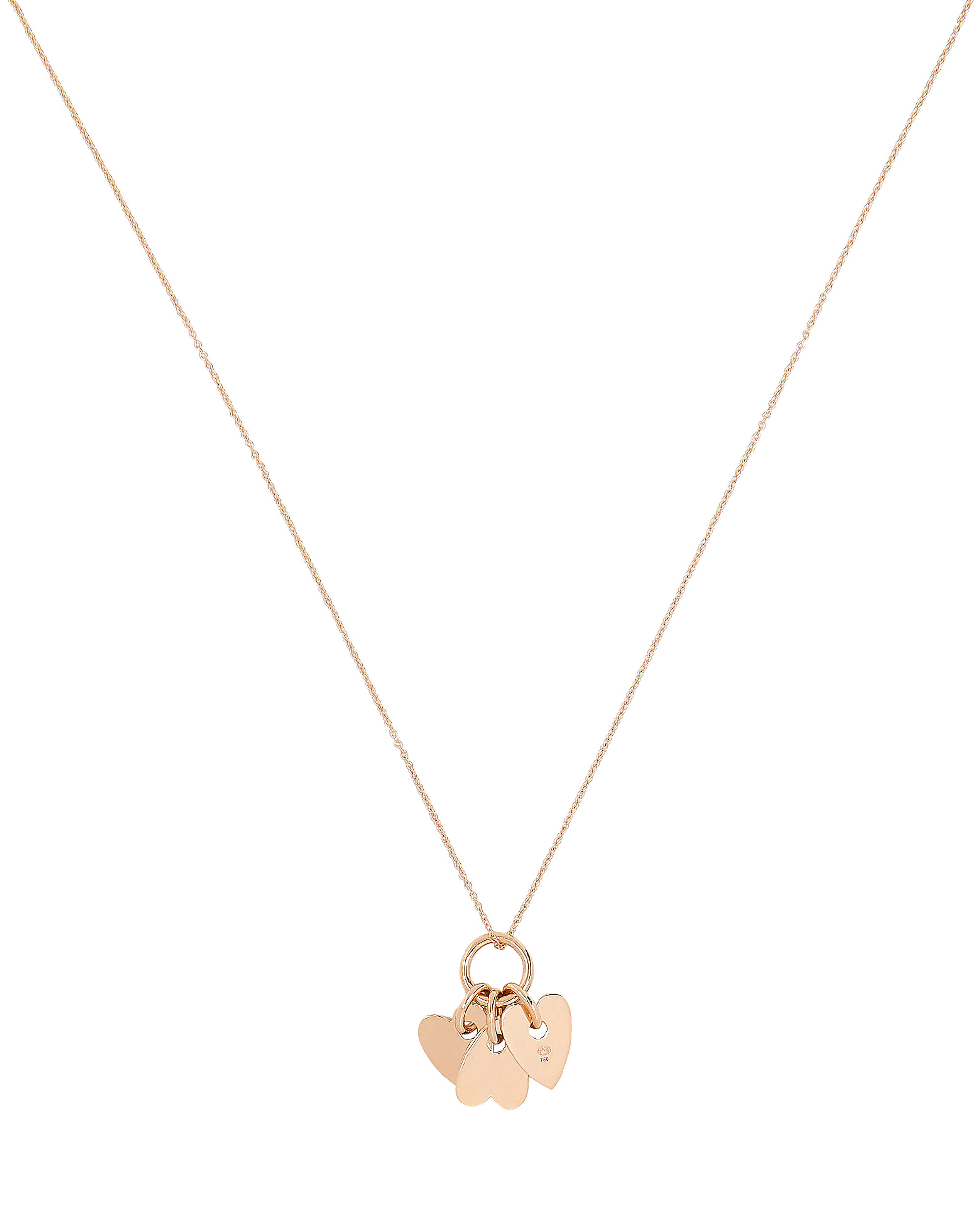 Angele Mini Hearts Pendant Necklace, ROSE GOLD, hi-res