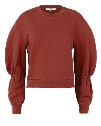 Sculpted Sleeve Sweatshirt, RED, hi-res