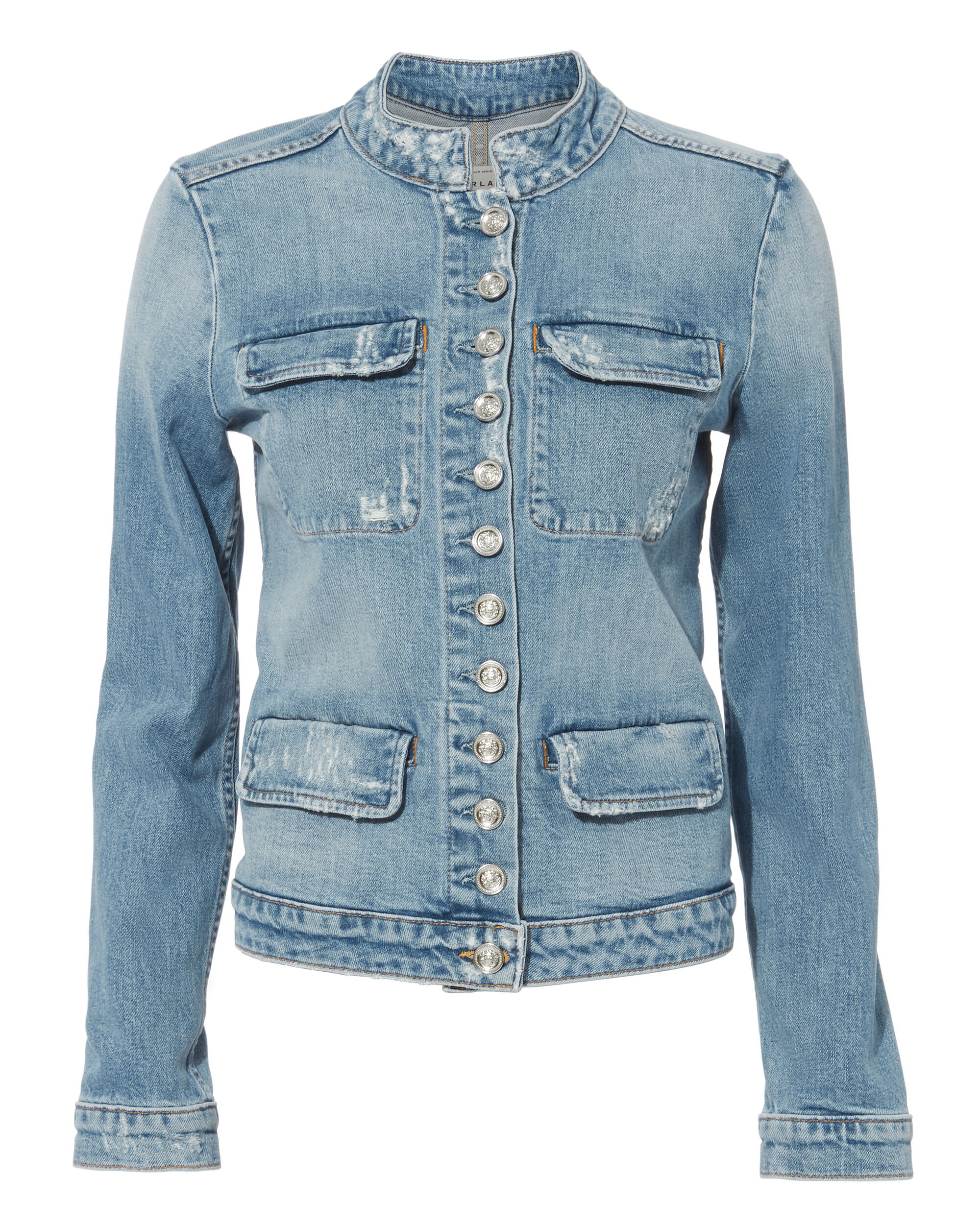 Constance Military Jacket, DENIM, hi-res