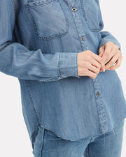 Carter Chambray Vintage Shirt, MEDIUM WASH DENIM, hi-res