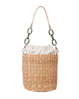 Colette Seagrass Bucket Bag, TAN, hi-res
