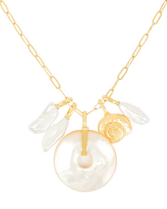 Deep Sea Charm Necklace, WHITE, hi-res