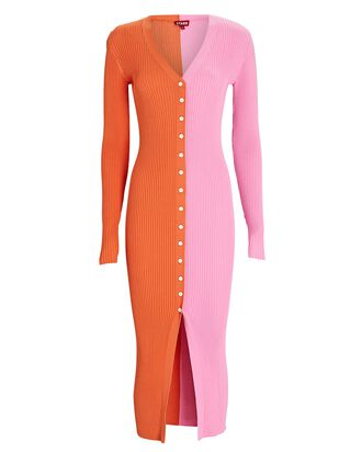 Shoko Colorblock Sweater Dress, ORANGE/PINK, hi-res
