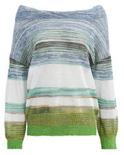 Striped Pullover, BLUE/WHITE/GREEN, hi-res