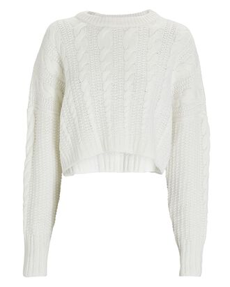 Teegan Cable Knit Sweater, IVORY, hi-res