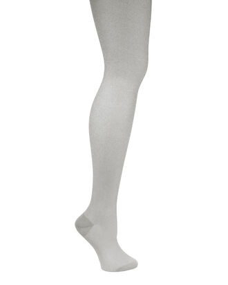 Calze Lurex Silver Thigh High Socks, SILVER, hi-res