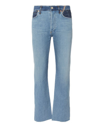 Hunter Crop Two-Tone Jeans, DENIM, hi-res
