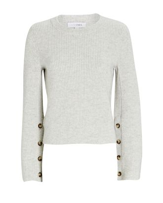 Adley Bell Sleeve Sweater, GREY-LT, hi-res