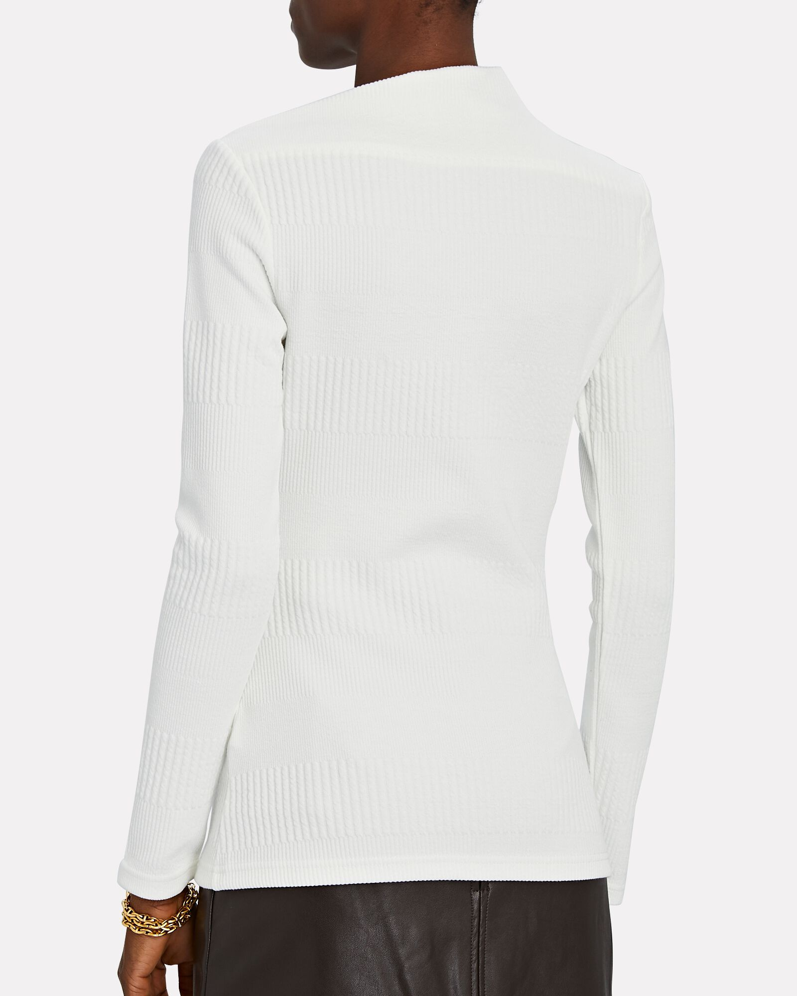 Parkway High Neck Knit Top, IVORY, hi-res