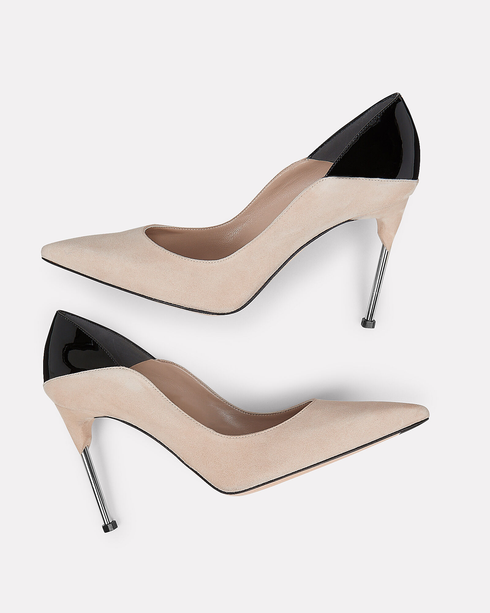 Two-Tone Pumps, BEIGE, hi-res