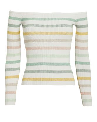 Robbie Striped Knit Top, WHITE/STRIPES, hi-res