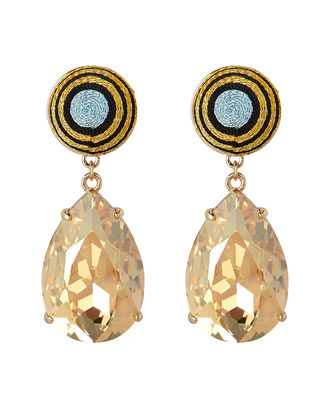 Cintia Mismatched Teardrop Earrings, GOLD/STRIPES, hi-res